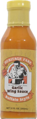 Heritage Fare Buffalo Style Garlic Wing Sauce Perspective: front