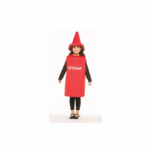 Costumes For All Occasions GC975 Ketchup Child Size 7 To 10 Perspective: front