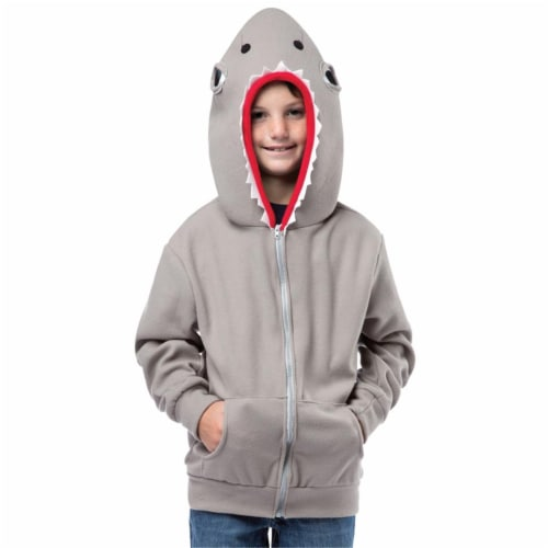 Rasta Imposta GC1600446 Child Shark Hoodie, Size 4-6 Perspective: front