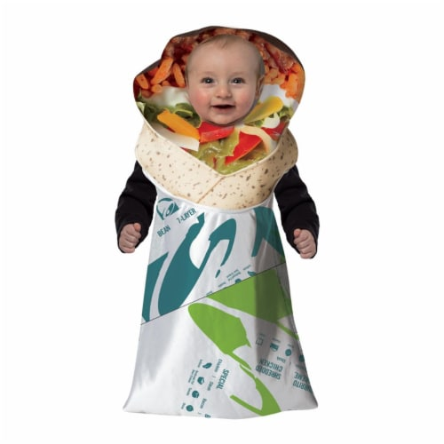 Morris Costumes GC3573 Taco Bell Burrito Baby Bunting Costume, 3-9 Months Perspective: front