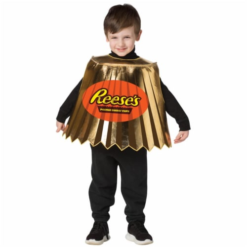 Morris Costumes GC3592 Hersheys Reeses Peanut Butter Cup Kid Costume, Size 3-6 Perspective: front