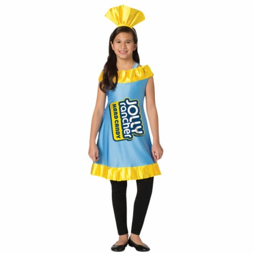 Morris Costumes GC3598710 Childs Blue Raspberry Jolly Rancher Costume, Size 7-10 Perspective: front
