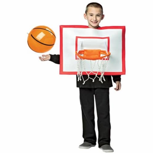 Morris GC3602710 Boys Basketball Hoop Costume, Size 7-10 Perspective: front