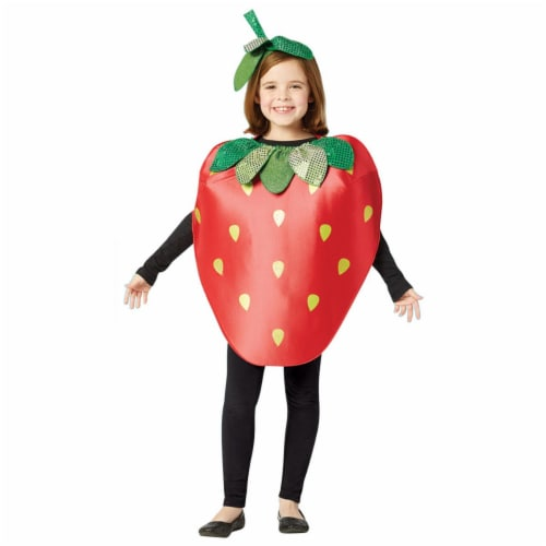 Rasta Imposta GC6189710 Sweet & Sparkly Strawberry Child Costume - Size 7-10 Perspective: front