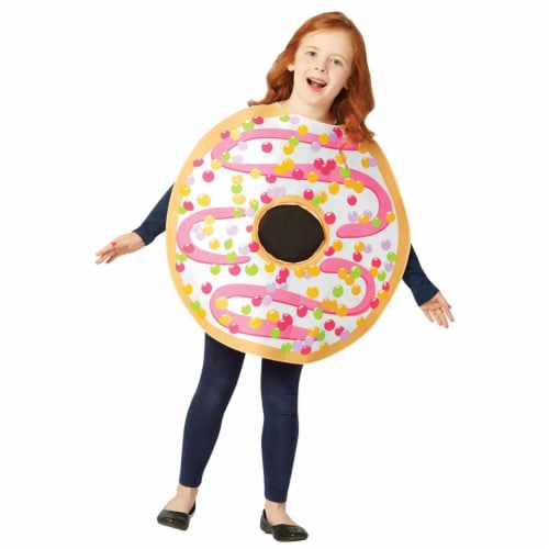 Rasta Imposta GC6339710 White Frosted Donut Child Costume - Size 7-10 Perspective: front