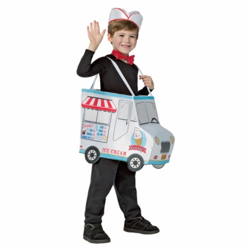 Morris GC699146 Swirlys Ice Cream Truck Costume, Size 4-6 Perspective: front