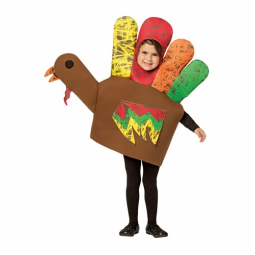 Morris GC713046 Kids Hand Turkey Costume, Size 4-6X Perspective: front