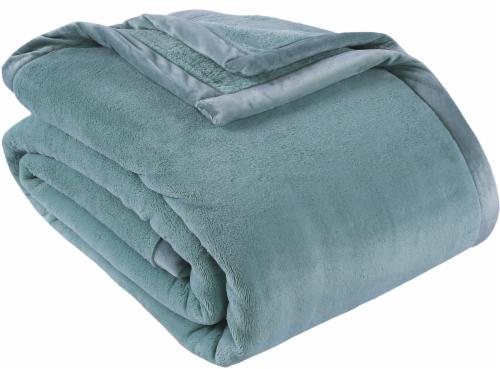 Berkshire Blanket Prima Plush Throw Blanket - Blue Perspective: front