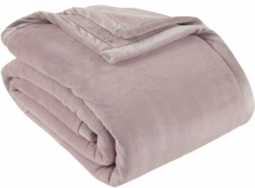 Berkshire Blanket Prima Plush Throw Blanket - Rose Perspective: front