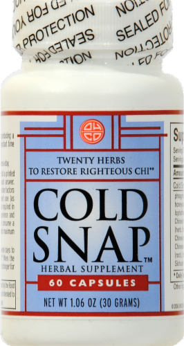Oriental Herb Company Cold Snap Herbal Supplement Capsules Perspective: front