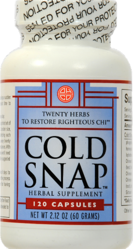 Ohco Cold Snap Herbal Supplement Capsules 120 Count Perspective: front