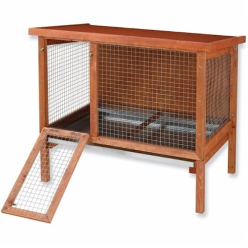 Large Heavy Duty Rabbit Hutch Perspective: front