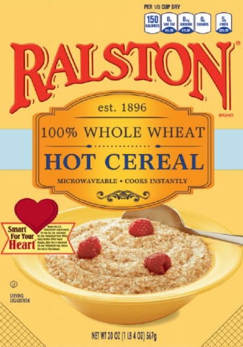 Ralston 100% Whole Wheat Hot Cereal Perspective: front