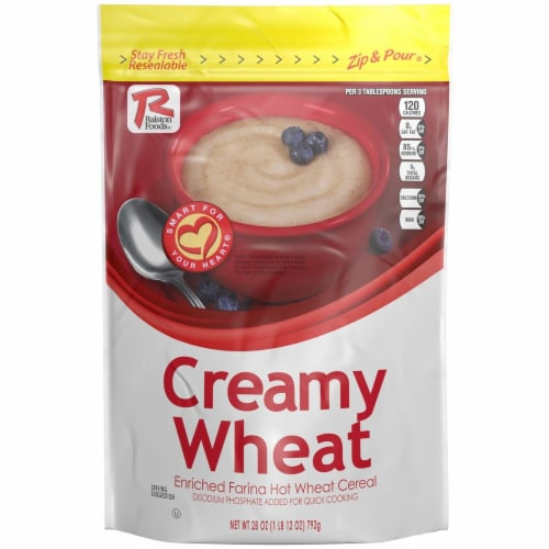 Ralston Foods Creamy Wheat Farina Cereal, 28 Ounce -- 12 per case. Perspective: front