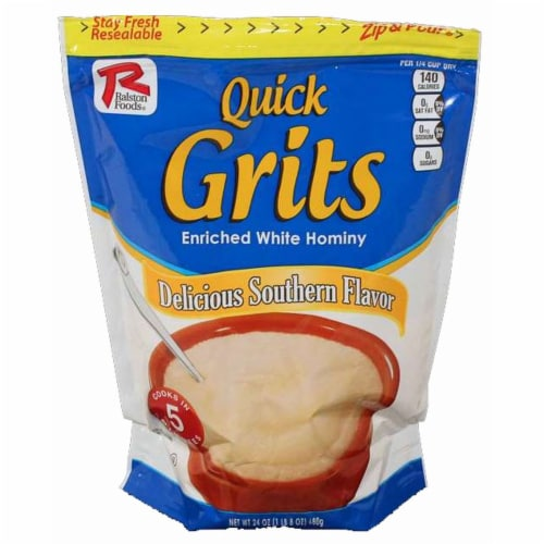 Ralston Foods Quick Grits Hot Cereal, 24 Ounce -- 12 per case. Perspective: front