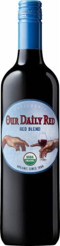 Our Daily Red Organic Red Blend Wine Perspective: front