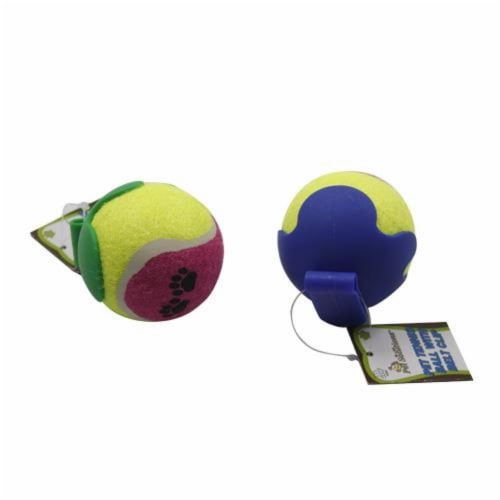 Pet Tennis Ball with Belt Clip Perspective: front