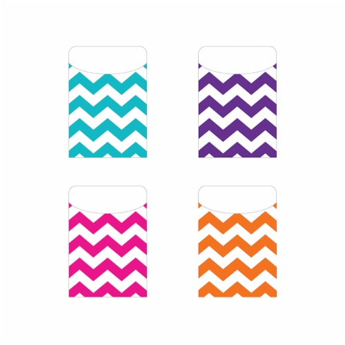 Top Notch Teacher Products TOP6075 Chevron Peel & Stick Pockets Perspective: front