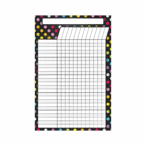 Top Notch Teacher Products TOP10609 Magnetic W&W Incentive Chart, Neon Chalk - 12 x 18 in. Perspective: front