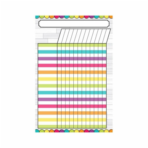 Top Notch Teacher Products TOP10617 Magnetic W&W Diy Magnetic Incentive Chart - 12 x 18 in. Perspective: front