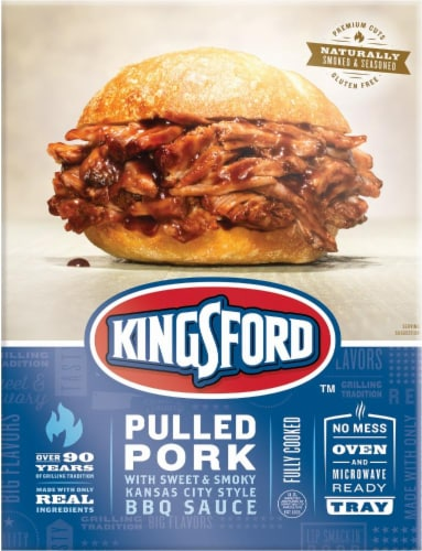 Kingsford Pulled Pork with Sweet & Smoky Kansas City BBQ Sauce Perspective: front