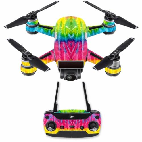 MightySkins DJSPCMB-Tie Dye 2 Skin Decal for DJI Spark Mini Drone Combo Sticker - Tie Dye 2 Perspective: front