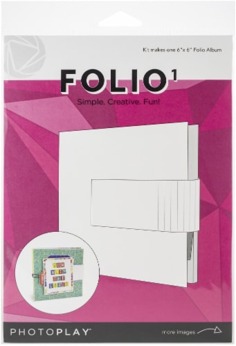 PhotoPlay Maker Series Folio 6 X6 -White Perspective: front