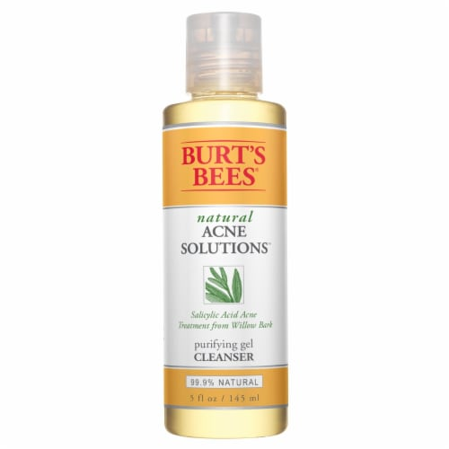 Burt's Bees Acne Solutions Purifying Gel Cleanser Perspective: front