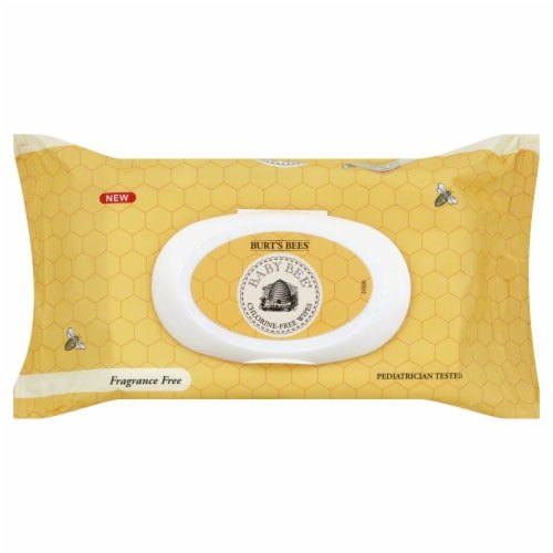 Burt's Bees Baby Bee Fragrance Free Wipes Perspective: front