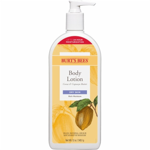 Burt's Bees Cocoa and Cupuacu Butter Dry Skin Body Lotion Perspective: front