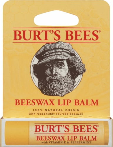 Burt's Bees Beeswax Lip Balm Perspective: front