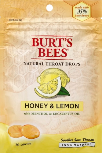 Burt's Bees Honey & Lemon Throat Drops Perspective: front