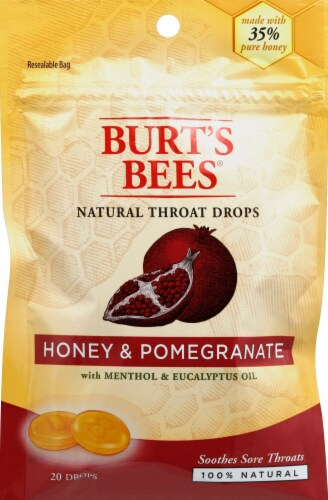 Burt's Bees Honey & Pomegranate Drops Perspective: front
