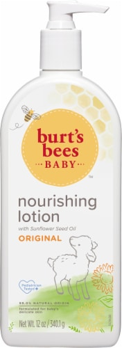 Burt's Bees  Baby Nourishing Lotion Original Scent Baby Lotion Perspective: front