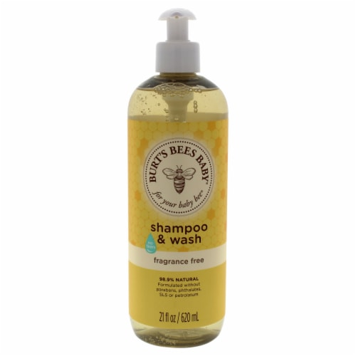 Burt's Bees Baby Bee Shampoo and Wash Fragrance Free Shampoo and Body Wash 21 oz Perspective: front