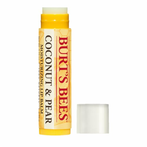 Burt's Bees Coconut & Pear Moisturizing Lip Balm Perspective: front