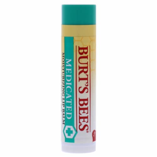 Burt's Bees Medicated Moisturizing Lip Balm Perspective: front