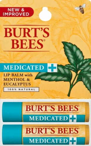 Burt's Bees Medicated Lip Balm Perspective: front