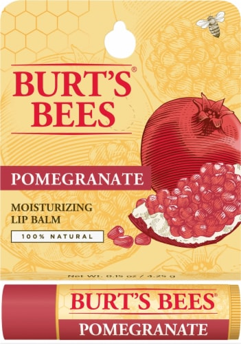 Burt's Bees Replenishing Pomegranate Lip Balm Perspective: front