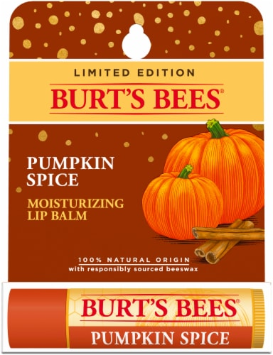 Burt's Bees Lip Balm - Pumpkin Spice with Beeswax Perspective: front