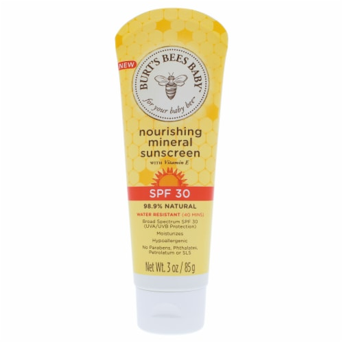 Burt's Bees  Baby Nourishing Mineral Sunscreen SPF 30 Water Resistant Baby Sunblock Perspective: front