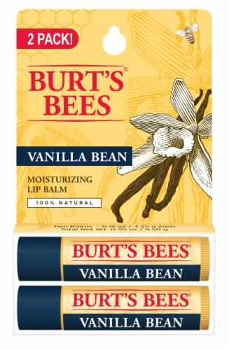 Burt's Bees Vanilla Bean Moisturizing Lip Balm Perspective: front