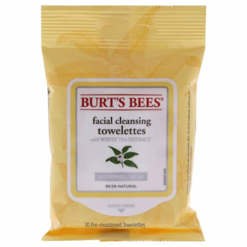 Facial Cleansing Towelettes with White Tea Extract Perspective: front