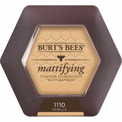 Burt's Bees Mattifying Powder Foundation with Bamboo Perspective: front
