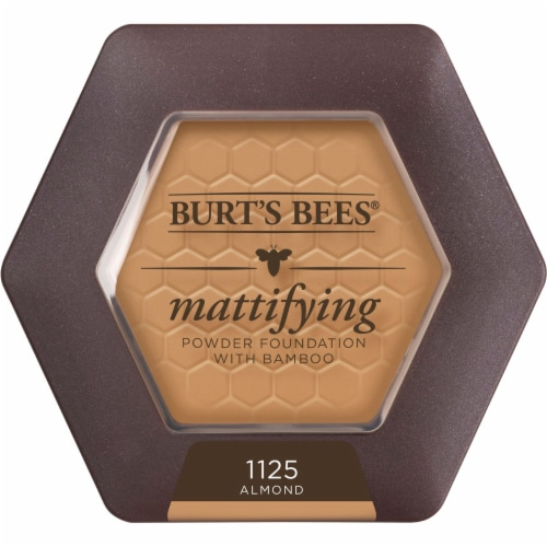 Burt's Bees Natural Mattifying 1125 Almond Powder Foundation Perspective: front