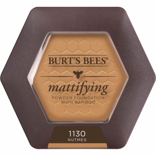 Burt's Bees Natural Mattifying 1130 Nutmeg Powder Foundation Perspective: front