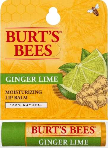 Burt's Bees Ginger Lime Moisturizing Lip Balm Perspective: front