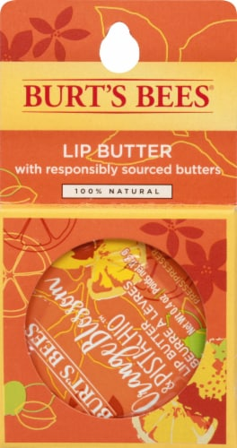 Burt's Bees Orange Blossom and Pistachio Lip Butter Perspective: front
