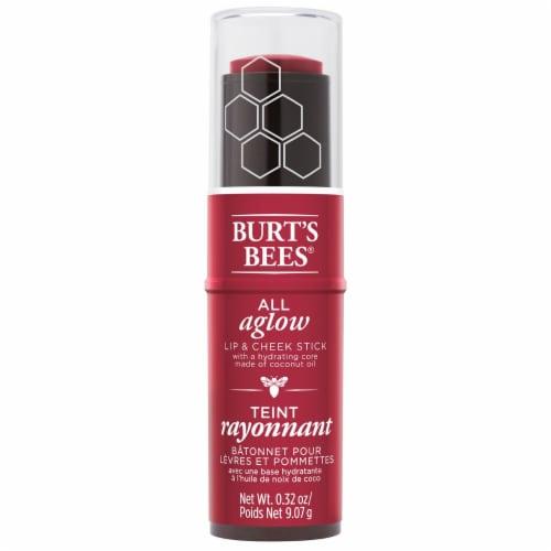 Burt's Bees All Aglow Dahlia Dew Lip & Cheek Stick Perspective: front