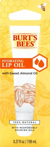Burt's Bees Hydrating Almond Lip Oil Perspective: front
